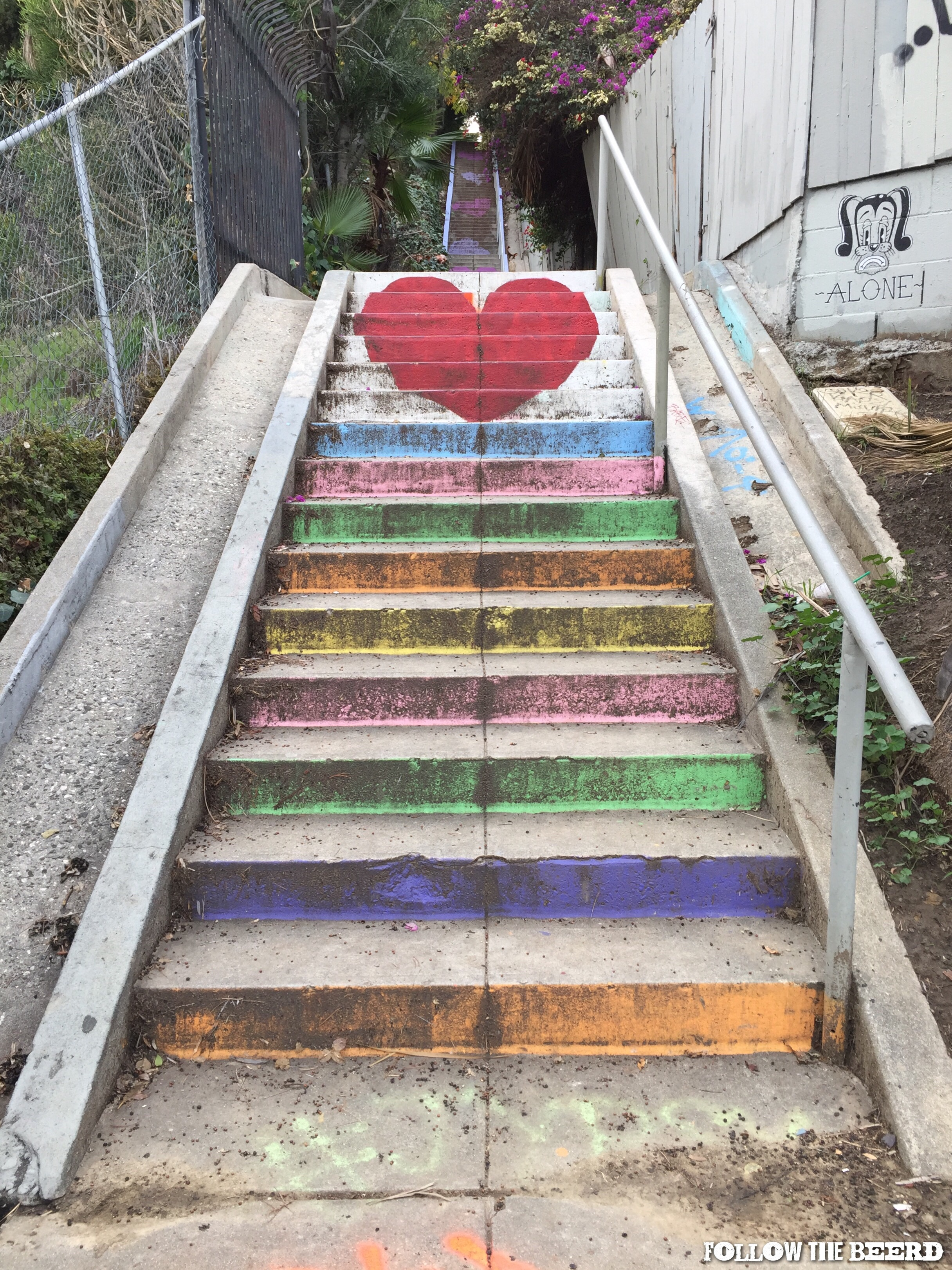 Painted In April 2015 By Artists Corinne Carrey, Carla Ou0027Brien And Mandon  Bossi, Stair Candy And Blooming Hearts Is A Stoneu0027s Throw Away From The ...